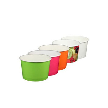 4 oz Stock-colored Yogurt Paper Cups - 1000 Count