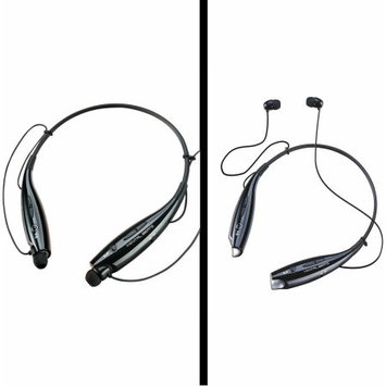 NECKBAND BLUETOOTH HEADPHONES - MENTAL BEATS RECKLESS, Black
