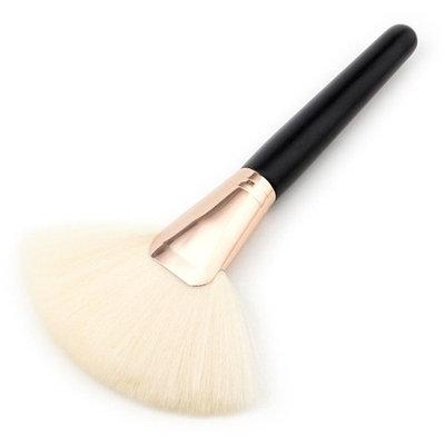 Makeup Brush Set, HeyI 1PC Big Fan Goat Hair Blush Face Powder Foundation Cosmetic Brush (Black)