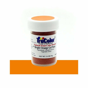 TruColor Bright Orange Natural Gel Paste Powder Food Coloring, 9 Grams