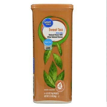 Wal-mart Stores, Inc. Great Value Sweet Tea Drink Mix Sugar Free, 6 ct, 2.12 oz