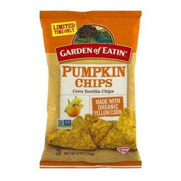 Hain Celestial Garden of Eatin' Corn Tortilla Chips, Pumpkin, 6 Oz