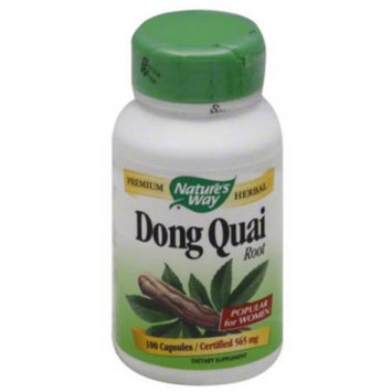 Nature's Way Dong Quai Root Dietary Supplement Capsules, 565mg, 100 count