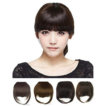Art of Love False Bang Neat Full Fringe Hairpiece Clip in Hair Extensions Bangs