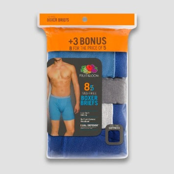 Fruit of the Loom Men's Covered Waistband Boxer Briefs 8pk - XL
