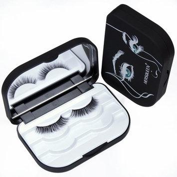 HERSQUEEN Lash Box Organizer Storage False Eyelash Plastic Lash Case With Mirror Custom Eyelash Box Packaging Makeup Storage