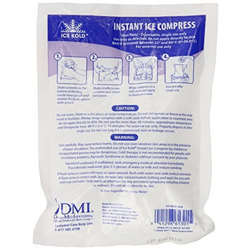 DMI Ice Kold Safe Non-Toxic Instant Ice Compress Bag