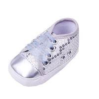 YL Baby Girl's Sequined Indoor First Walking Sports Sneakers Shoes