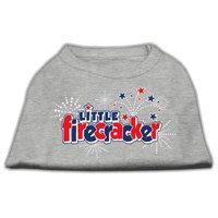 Mirage Pet Products 511706 XXXLGY Little Firecracker Screen Print Shirts Grey XXXL 20