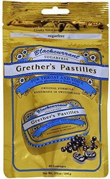 Blackcurrant Sugarfree Pastilles Refill Bag by Grether's (40 Pastilles)
