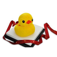 Couture Towel CT-TPMD001401 30 x 30 in. Mother Duck Towel Yellow
