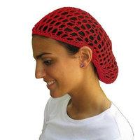 Red Hair Net - Snood - Crochet Hair Net Snood In Red