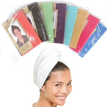 Atb 1 Pc Microfiber Large Hair Head Wrap Towel Turbie Turban Twist Soft Cap Fast Dry