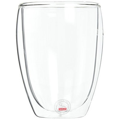 BODUM Pavina Double Wall Glass 15 Oz, Set of 2 - CLEAR