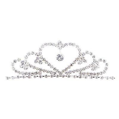 Frcolor Rhinestone Princess Tiara Crown Pegeant Tiara Comb Crown Hair Decoration for Kids Girls