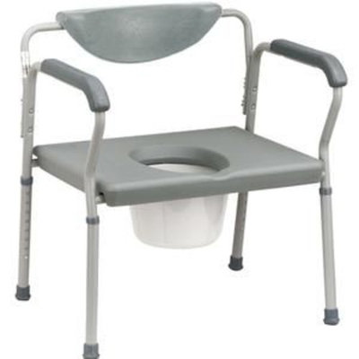 Drive Medical Deluxe Bariatric Commode Gray, Large, 22