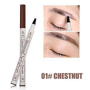 Tattoo Eyebrow Pen with 3 Colors Long-lasting Waterproof Brow Gel and Tint Dye Cream for Eyes Makeup by YOYORI (Chestnut)