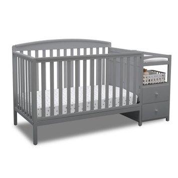 Delta Children Royal Convertible Crib N Changer, Grey