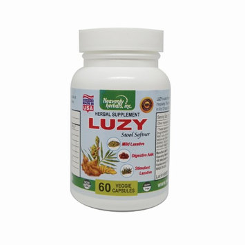Luzy Capsules by Heavenly Herbals, Inc. : Luzy is a natural Herbal Formula for mild to moderate constipation Relief. 100% Vegetarian, Non-GMO, gluten FREE. Manufactured in a FDA registered facility right here in New York.