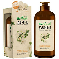 Biofinest Jasmine Essential Oil Shower Gel - Premium Grade - Best For Deep Cleansing and Dry Skins - Refreshing and Moisturizing - For All Skin (380ml /12.8 Oz)