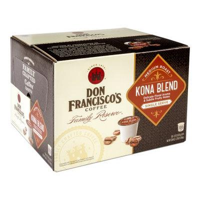 F. Gavi A & Sons, Inc. Don Francisco's Kona Blend, Medium Roast, Single-Serve Coffee, 100-Count
