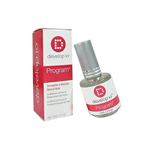Develop 10 Nail Polish Treatment Program is an exclusive nail strengthening formula with proteins and conditioners - Size 0.5 fl oz. / 15 ml