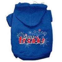 Mirage Pet Products Little Firecracker Screen Print Pet Hoodies Blue Size XXL (18)