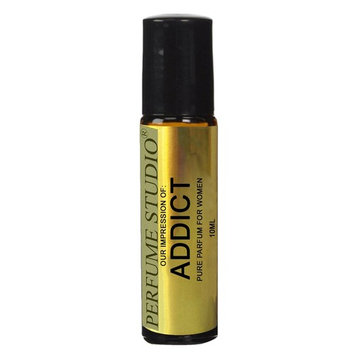 Perfume Studio IMPRESSION Oil of Addict Perfume for Women; 10ml Amber Glass Roll-On Bottle.