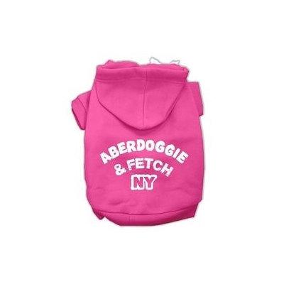 Mirage Pet Products Aberdoggie NY Screenprint Pet Hoodies Bright Pink Size XXXL (20)