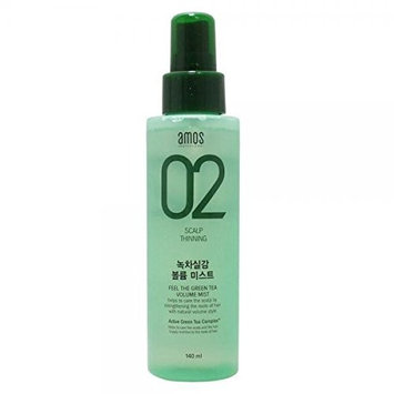 Amore Pacific Amos Feel The Green Tea Volume Hair Mist 140 ml / 4.7 Oz, All Hair Types , Made in Korea