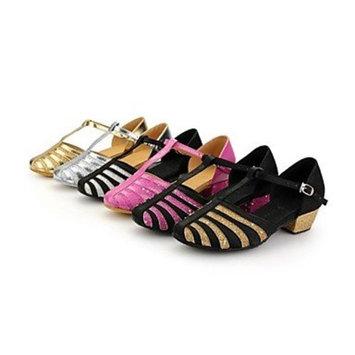 KYDJ Kids' Dance Shoes Modern Satin Low Heel Silver/Gold/Multi-color [Gold, us3.5 / eu35 / uk2.5 big kids]