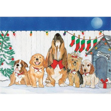 Pipsqueak Productions C439 Mix Dog Holiday Boxed Cards