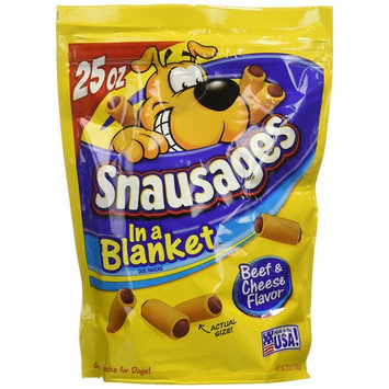 Snausages In a Blanket Beef & Cheese Flavor Dog Snacks 25 oz (Pack of 4) Pack of 4