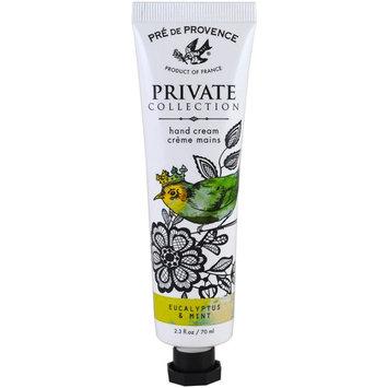 European Soaps, LLC, Pre de Provence, Private Collection, Hand Cream, Eucalyptus & Mint, 2.3 fl oz (70 ml)