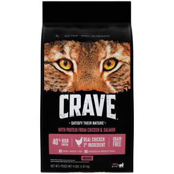 Crave™ with Protein from Chicken & Salmon Premium Indoor Cat Food 4 lb. Bag
