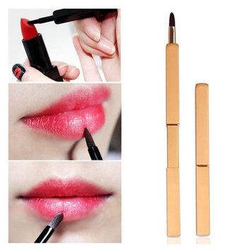 Pinkiou Lip Brush Lipstick Gross Lip Makeup Brush Retractable Cosmetics Tool (Black)