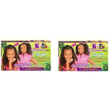 [ PACK OF 2] Africa's Best Kids Organics Olive Oil Hair Softening System Kit: Beauty