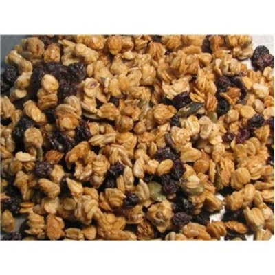 Cherry Harvest Granola, 2 LBS By Gerbs - Top 12 Food Allergy Free & NON GMO - Preservative Free & Kosher - Made in Rhode Island [Cherry]