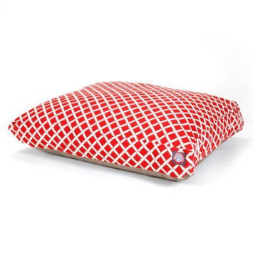 Majestic Home Goods Inc Majestic Home Goods Bamboo Rectangle Pet Bed Red, Medium