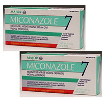 (2 Pack) Miconazole Vaginal Cream Antifungal (Contains 2 Tubes of 1.59oz (45g) Each - 2 Courses of Therapy) (Compare to Active Ingredient of MONISTAT 7 Vaginal Cream): Health & Personal Care