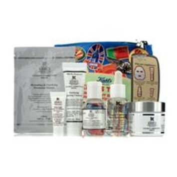 Kiehl's Clearly Corrective White Set: Clarifying Cream + Toner + Cleanser + Masque + Uv Defense Spf 50 + Bag