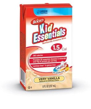 BOOST KID ESSENTIALS Pediatric Oral Supplement / Tube Feeding Formula 1.5 Very Vanilla 8 oz. Tetra PK/6