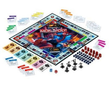 Parker Brothers Spider-Man Edition Monopoly Property Trading Game Spiderman Action