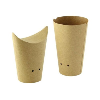 Packnwood 210TPASK16K 10 oz Closable Perforated Kraft Snack Cup 2.36 x 5.5 in.