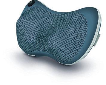 Sharper Image Shiatsu Massage Pillow with Heat, Deep Tissue muscles Kneading Back Massager, Neck Massager, Grey