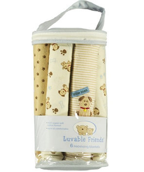 Luvable Friends Puppy Love 6-Pack Receiving Blankets