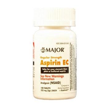 MAJOR ASPIRIN EC 325MG TABS UNBOXED ASPIRIN-325 MG Orange 100 TABLETS UPC