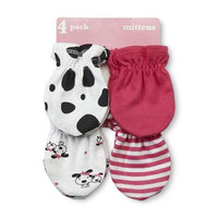 Gerber Infant Girl's 4-Pairs Mittens