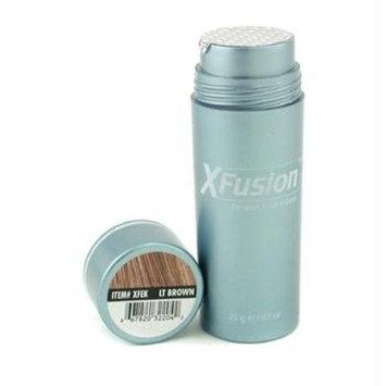 X-Fusion Keratin Hair Fibers for Unisex, Light Brown, Net WT .28g/ 0.98 oz