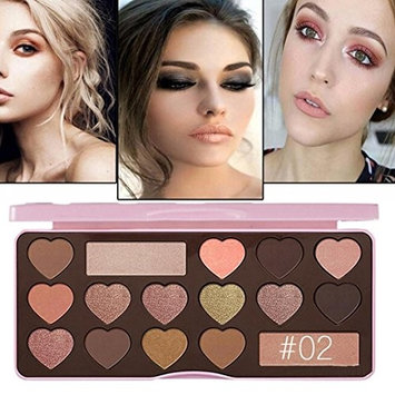 Earth Tone Eye Shadow ,16 Color Heart Shape Makeup Cherry Blossoms Pearlescent Rotating Professional Vegan Nudes Warm Natural Bronze Neutral Smokey...